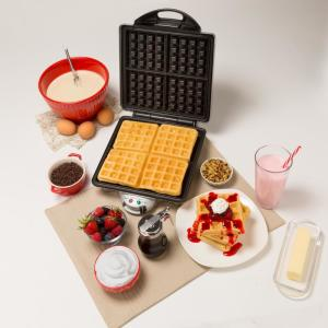 Cucinapro Four Square Belgian Waffle Maker In Stainless 1452 The