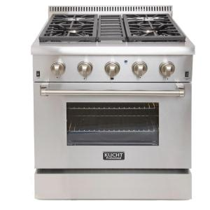 dual fuel range with sealed burners and convection oven in stainless steel krd306f the home depot - Downdraft Gas Range
