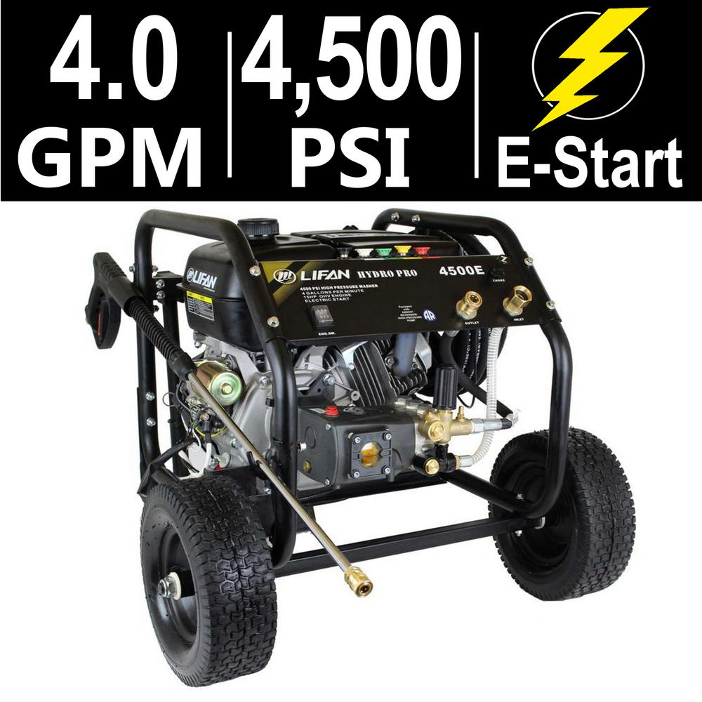 Hydro Pro Series 4,500 psi 4.0 GPM AR Tri-Plex Pump Electric