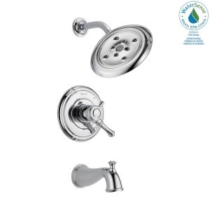 Cassidy 1-Handle H2Okinetic Tub and Shower Faucet Trim Kit Only in Chrome (Valve Not Included)
