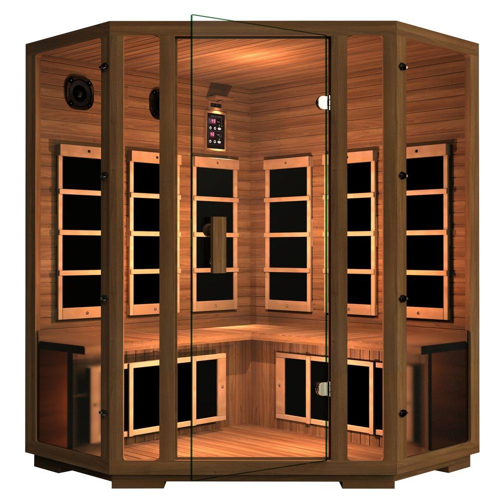 JNH Lifestyles Freedom 4-Person Corner Far Infrared Sauna