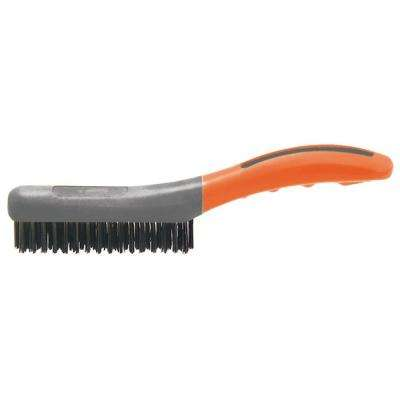 4 Row x 16 Row Soft Grip Carbon Wire Brush