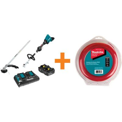 18-Volt X2 (36-Volt) LXT Brushless Couple Shaft Power Head Kit with Trimmer Attachment with Bonus Round Trimmer Line
