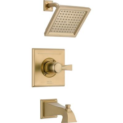 Dryden 1-Handle 1-Spray Tub and Shower Faucet Trim Kit in Champagne Bronze (Valve Not Included)