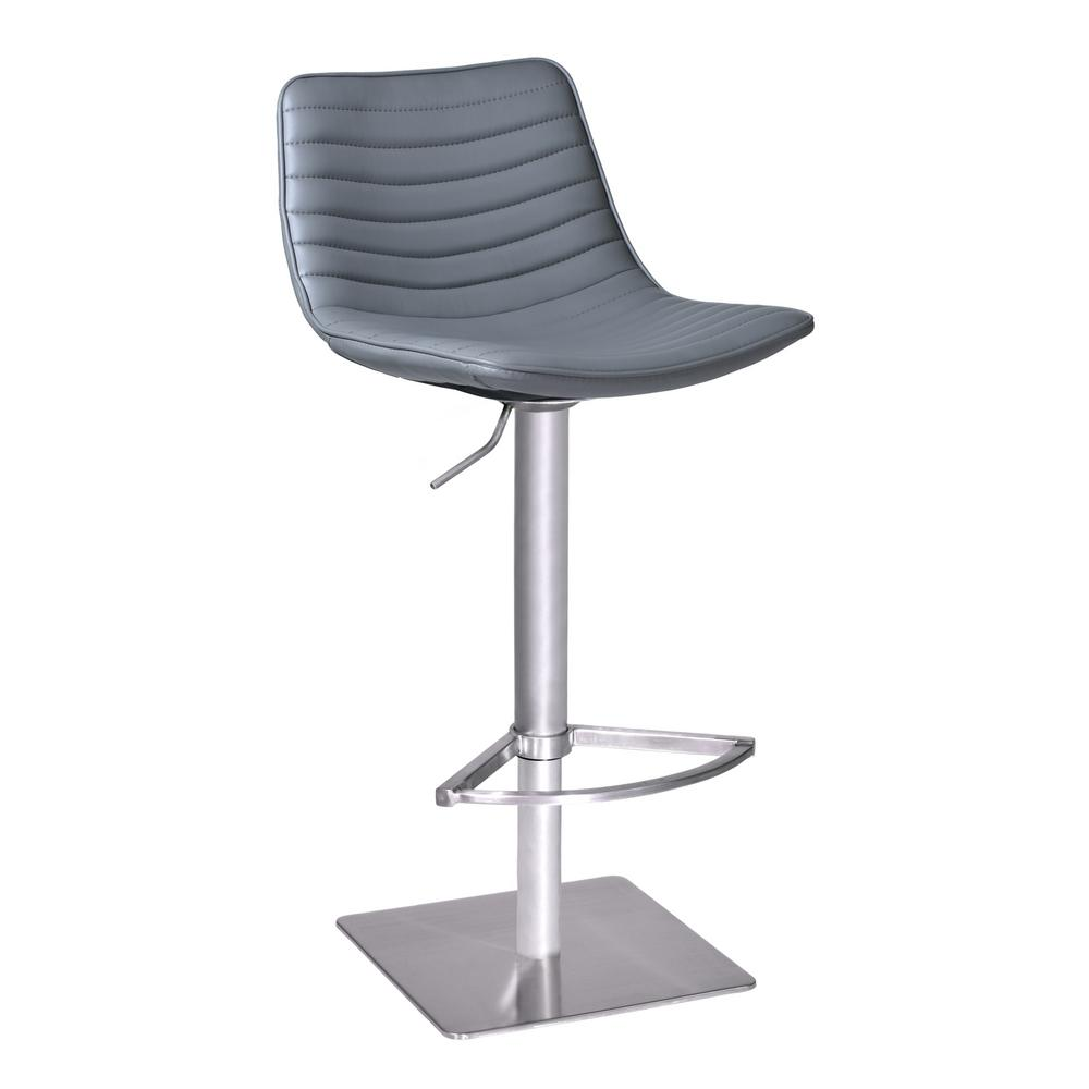 Armen Living Luna Grey Adjule Bar Stool