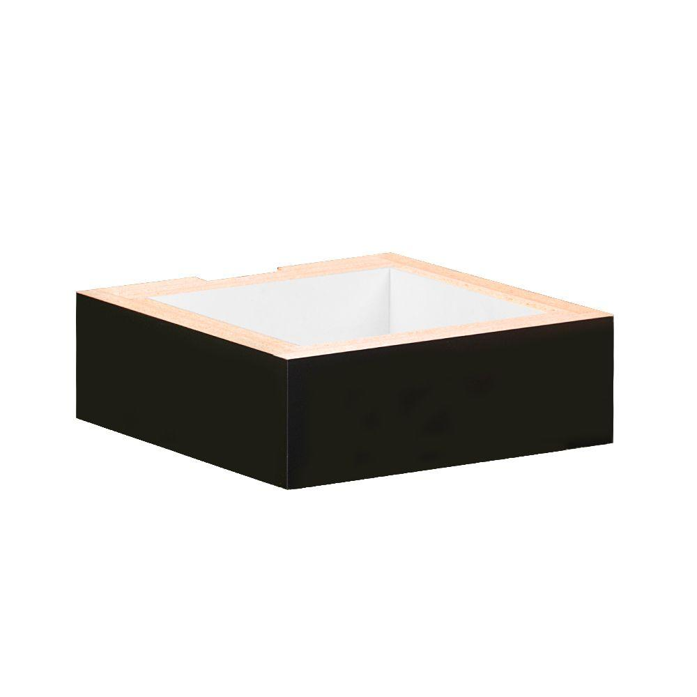 Salsbury Industries 31000 Series 12 in. W x 4 in. H x 12 in. D Base for Wood Cubbies in Black