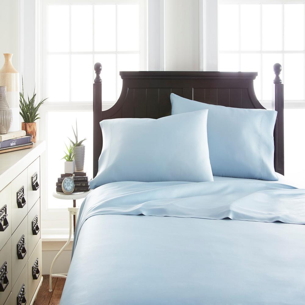 Becky Cameron Bamboo 4 Piece Light Blue California King Bed Sheet