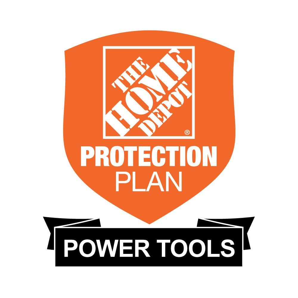 The Home Depot 2-Year Protection Plan for Power Tools ($0-$24.99) Get peace of mind for all of your home-improvement products with The Home Depot Protection Plan. If your product experiences a covered failure, you will be reimbursed with a Home Depot eGift Card for the full purchase price of your product, plus tax. After you purchase your Home Depot Protection Plan, a separate confirmation email will be sent to you. This confirmation will include the terms and conditions and provide instructions on how to file a claim should your product experience a covered failure.