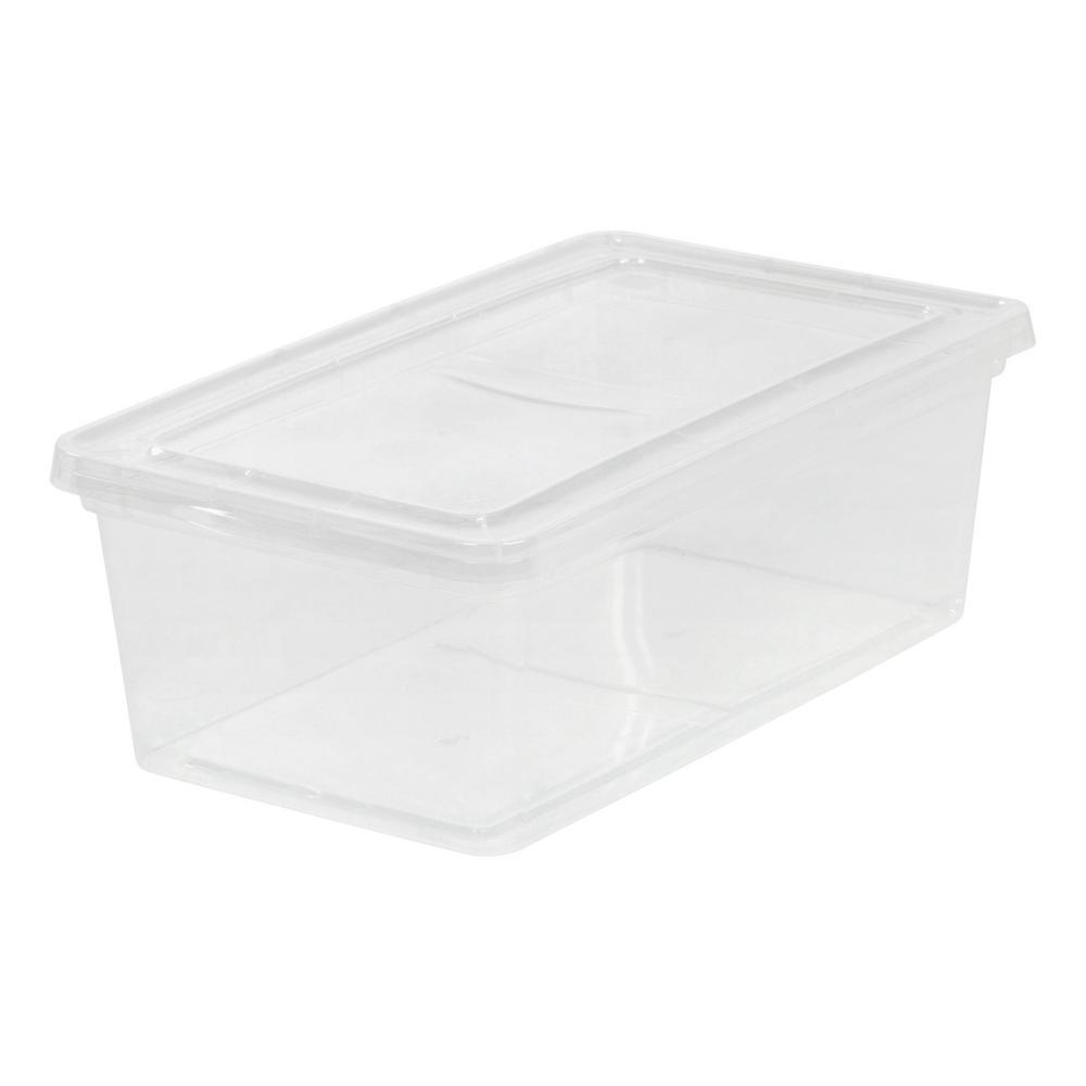 IRIS 6-Qt. Storage Box in Clear (6-Pack)