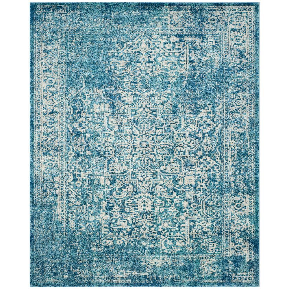 Safavieh Evoke Blue Ivory 8 Ft X 10 Area Rug