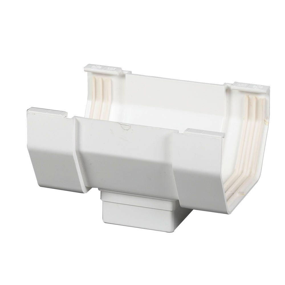 Amerimax Home Products 4 In White Vinyl Center Drop T0406