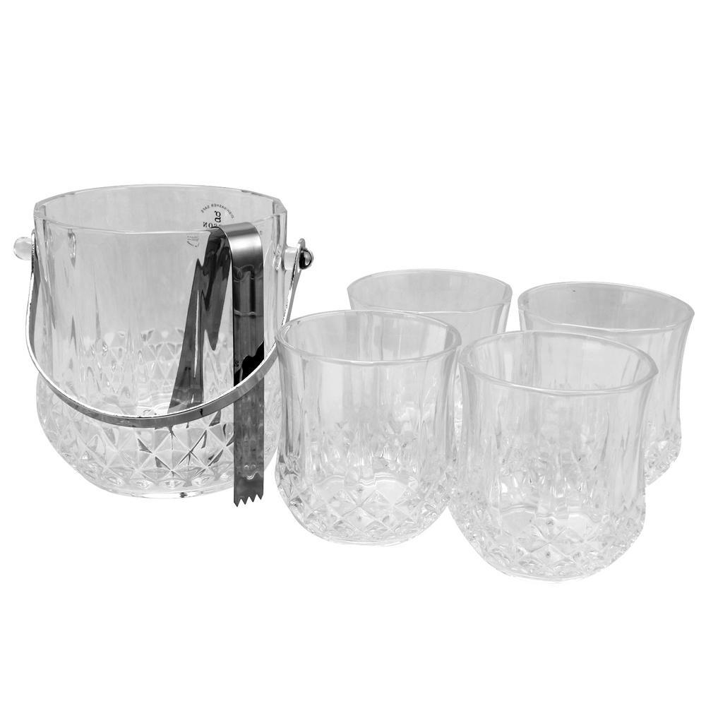 Jewelite 6-Piece Glass Ice Bucket Set