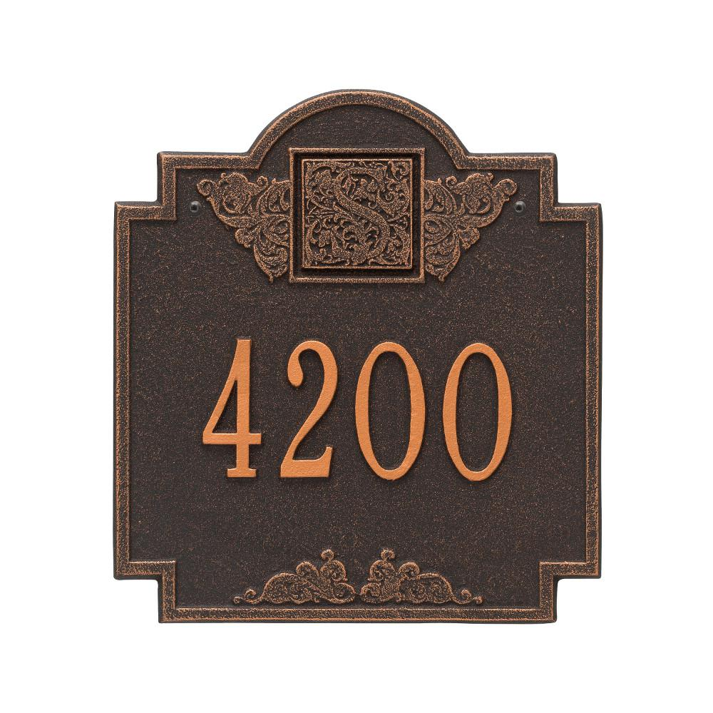 10.75 in. x 11.75 in. Monogram Address Personalized Plaque
