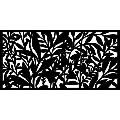 0.3 in. x 45.7 in. x 1.9 ft. Hinterland Recycled Plastic Charcoal Wall Art