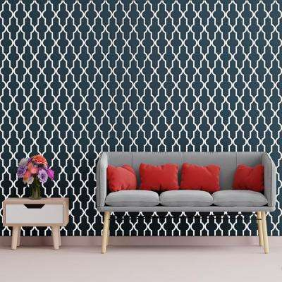 3/8 in. x 23-3/4 in. x 23-3/4 in. Large Casablanca White Architectural Grade PVC Decorative Wall Panels