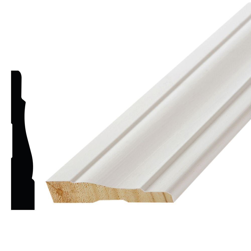 WM 444 11/16 in. x 3-1/2 in. x 96 in. Poplar Wood Primed Finger-Jointed Casing Moulding