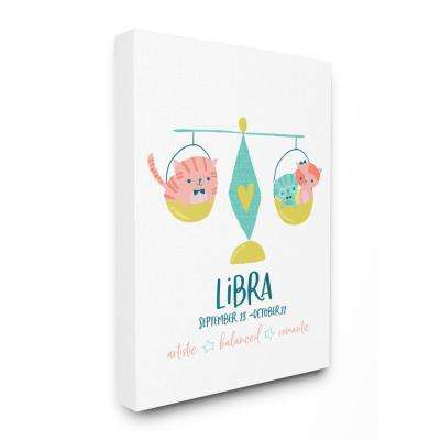"16 in. x 20 in.  ""Fun Modern Zodiac Libra Kittens"" by Heather Rosas Canvas Wall Art"