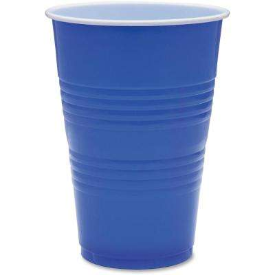 16 oz. Blue Plastic Party Cups
