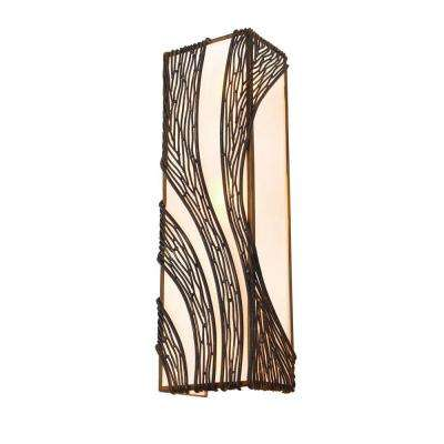 Flow 3-Light Hammered Ore Vertical Sconce