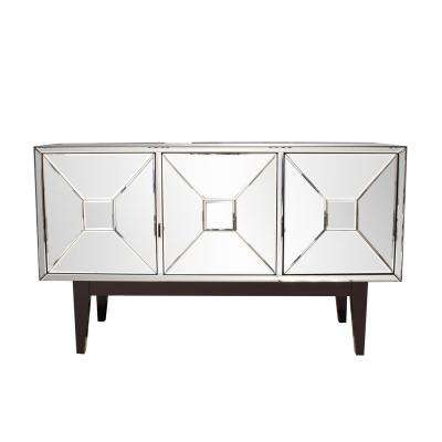 Mirrored Buffet Cabinet With Three Doors