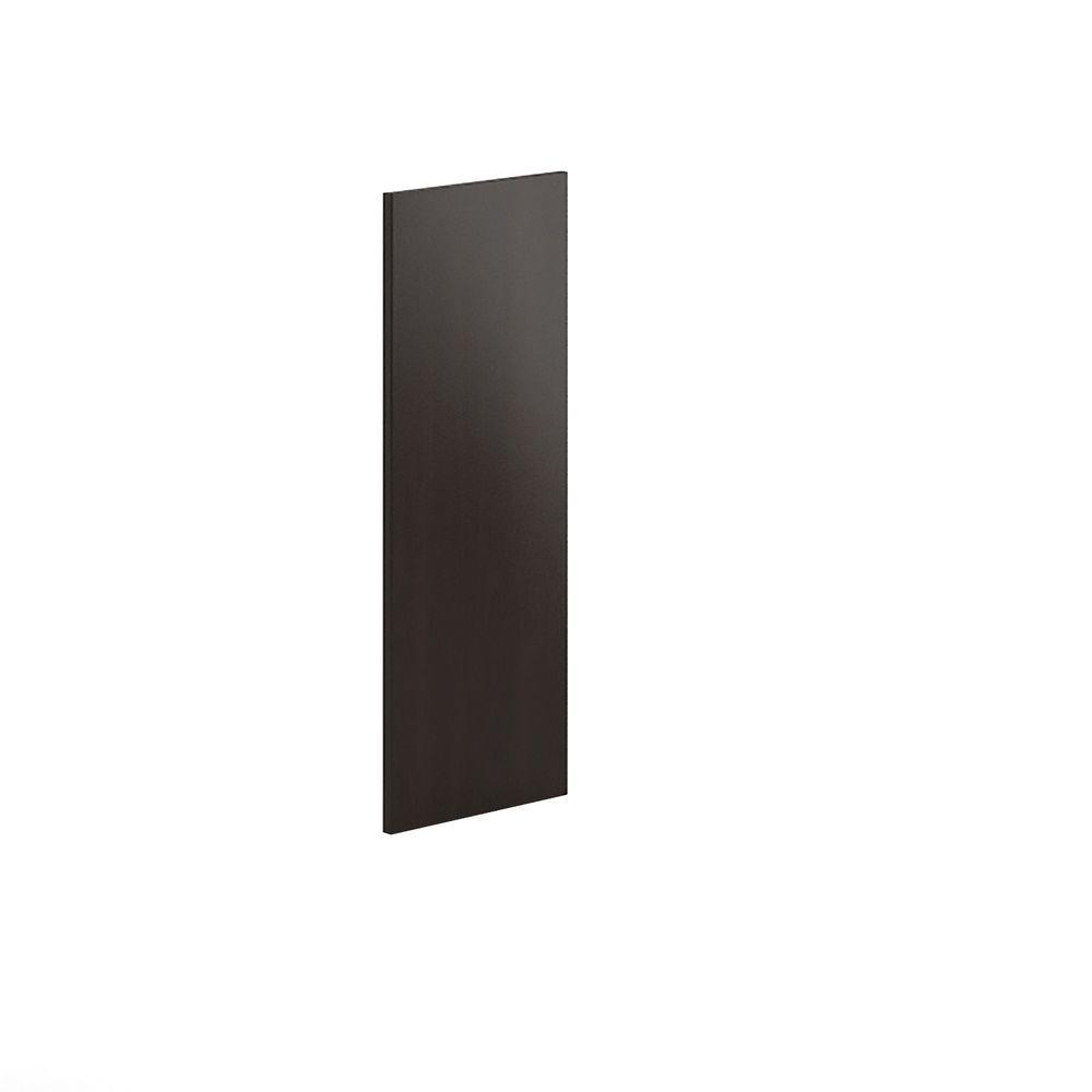12x30x0.75 in. Replacement End Panel in Dark Brown Veneer