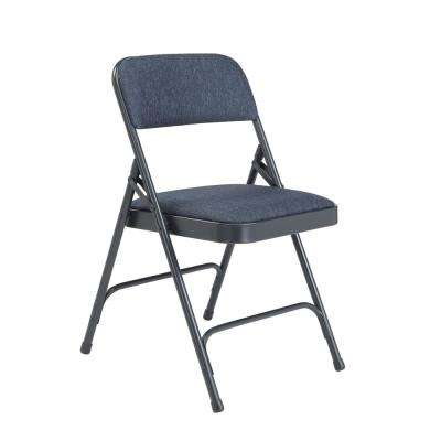 NPS 2200 Series Blue Fabric Upholstered Premium Folding Chairs (Pack of 4)