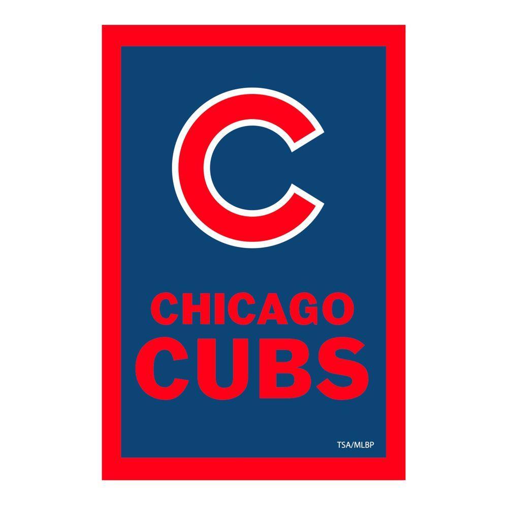 MLB 1 ft. x 1-1/2 ft. Chicago Cubs 2-Sided Garden Flag