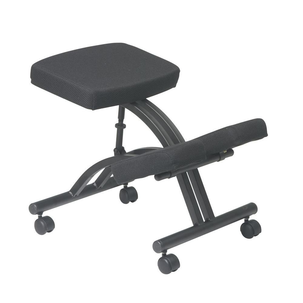 work smart black knee chair kcm1420 the home depot