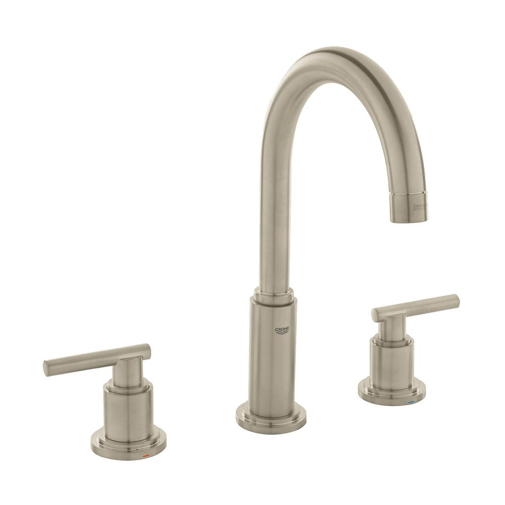 Atrio 8 in. Widespread 2-Handle 1.2 GPM Bathroom Faucet in Brushed