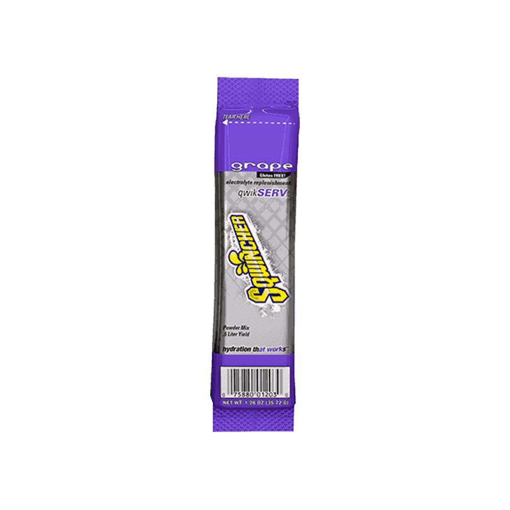 Sqwincher Regular Sugar QwikServe Single Serve 1.26 oz. Grape Electrolyte Powder Drink Mix (96-packs)