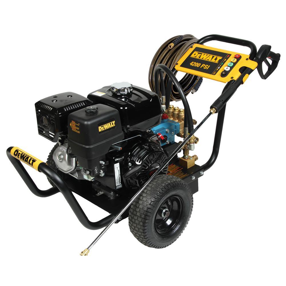DEWALT 4200 PSI 4.0 GPM Belt Driven Gas Pressure Washer Powered by HONDA