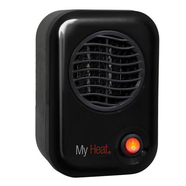 MyHeat 200-Watt Electric Portable Personal Space Heater, Black