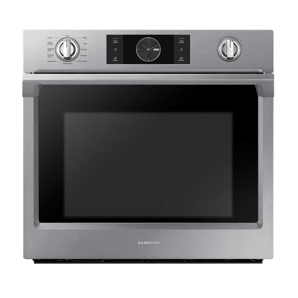 Single Electric Wall Oven with Steam Cook, Flex Duo and Dual