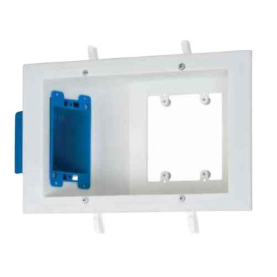 3-Gang Flat Panel Box with Old Work Electrical Box (3-Pack)