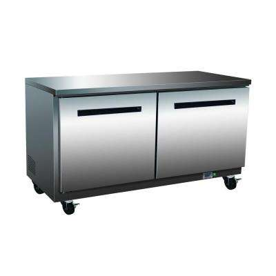 X-Series 15.5 cu. ft. Double Door Undercounter Commercial Refrigerator in Stainless Steel