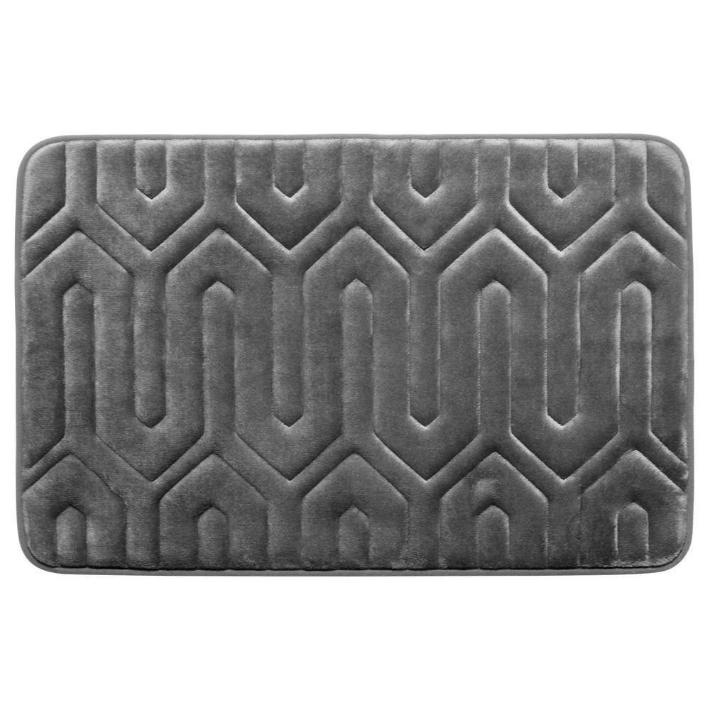 Thea Dark Gray 20 In X 32 Memory Foam Bath Mat