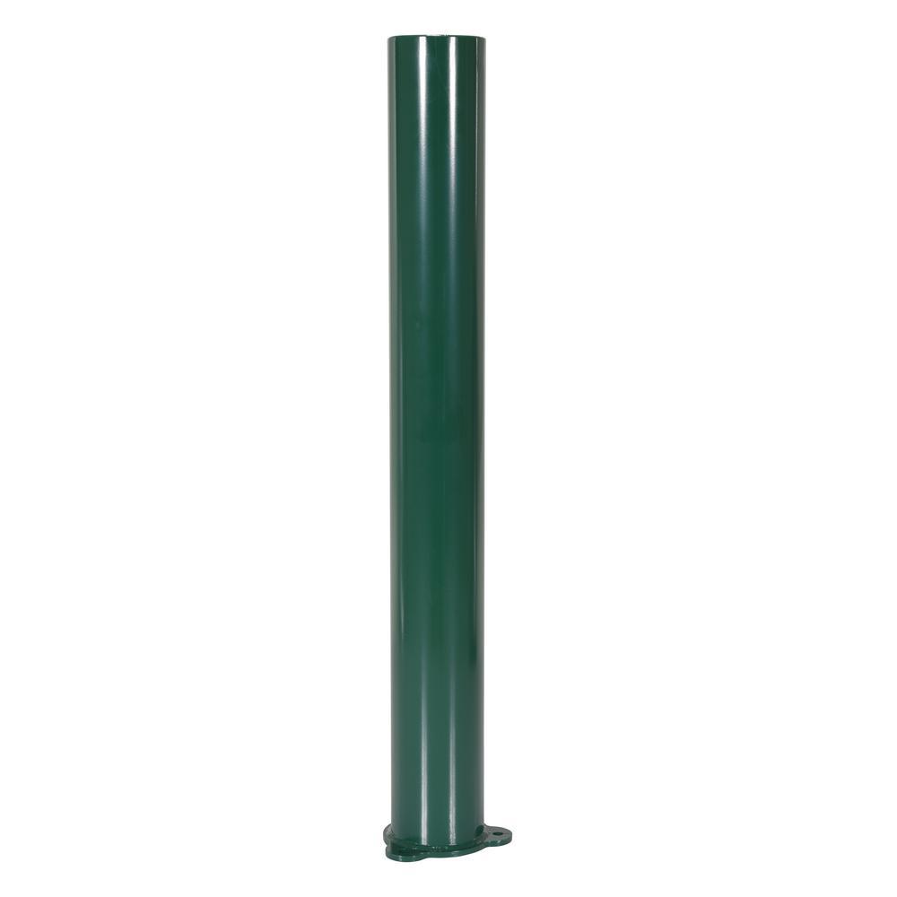 Vestil 48 in. x 5.5 in. Dia Dark Green Architectural Bollard