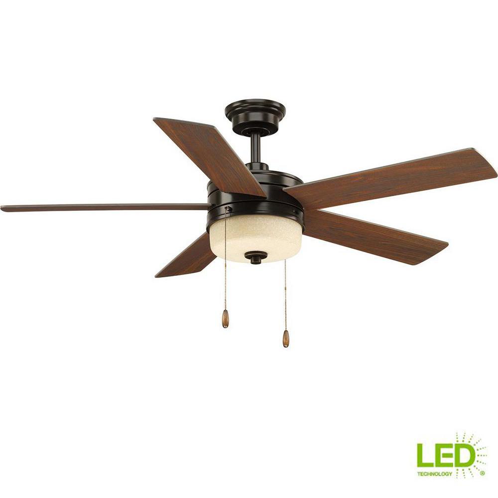 Verada 54 in. LED Indoor Antique Bronze Ceiling Fan with Light Kit