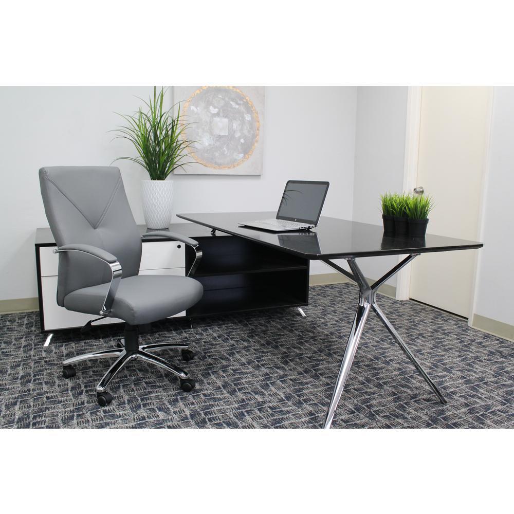 Boss Grey Swivel Chair B10101-GY