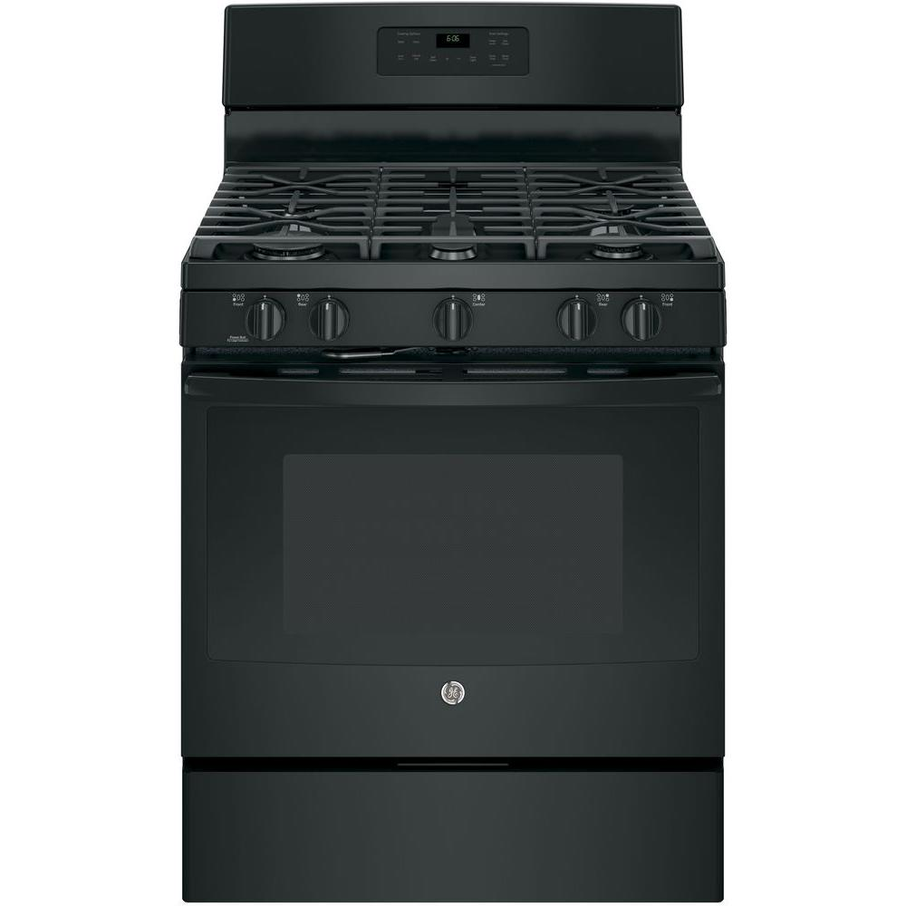 5.0 cu. ft. Gas Range with Self-Cleaning Oven in Black