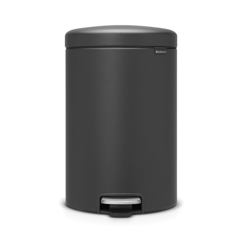 5.3 Gal. Steel Step-On Trash Can in Mineral Gray