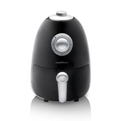 2.1 Qt. Compact Electric Air Fryer with Color Recipe Book in Midnight Black