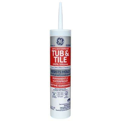 Tub and Tile Silicone 1 10.1 oz. Clear Kitchen and Bath Caulk
