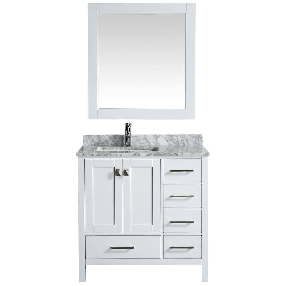 London 36 in. W x 22 in. D Vanity in White