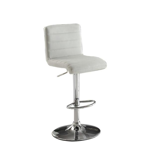 Enjoyable Passore 36 5 In H Contemporary Style Bar Stool In White Finish Machost Co Dining Chair Design Ideas Machostcouk