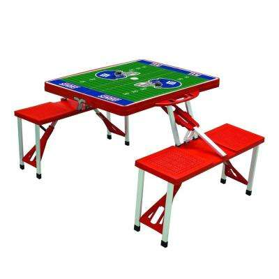 New York Giants Sport Plastic Outdoor Patio Picnic Table