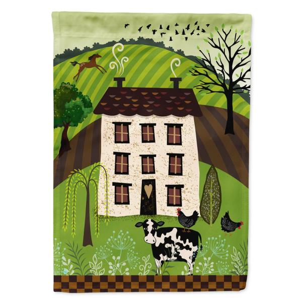 Caroline S Treasures 11 In X 15 1 2 In Polyester Folk Art Country House 2 Sided 2 Ply Garden Flag Vha3024gf The Home Depot