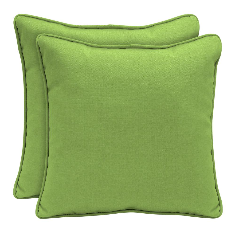 Sunbrella Canvas Gingko Square Outdoor Throw Pillow (2-Pack)