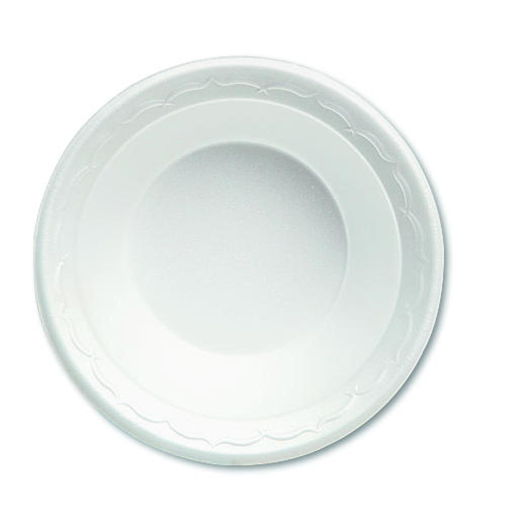 Genpak Celebrity 5 oz. Foam Bowls, White, 1000 Per Case