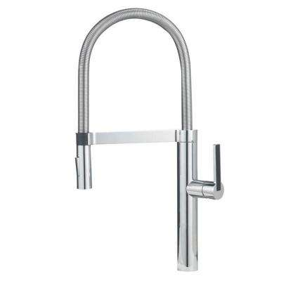 Culina Semi-Pro Single-Handle Pull-Down Sprayer Kitchen Faucet in Chrome